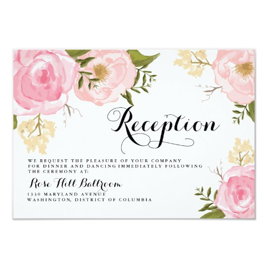 wedding reception card