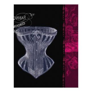 modern vintage renaissance paris vintage corset letterhead