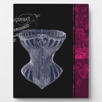 modern vintage renaissance paris vintage corset plaque