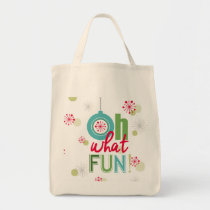modern vintage retro Christmas typograpahy phrase Tote Bag