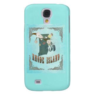Modern Vintage Rhode Island State Map – Aqua Blue Samsung Galaxy S4 Covers