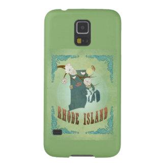 Modern Vintage Rhode Island State Map – Sage Green Case For Galaxy S5