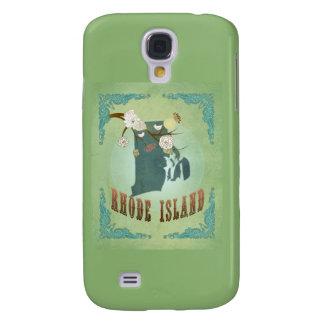 Modern Vintage Rhode Island State Map – Sage Green Samsung Galaxy S4 Cases