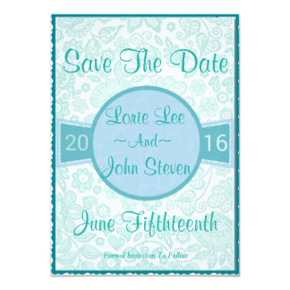 Modern Vintage Rustic Save The Date Card