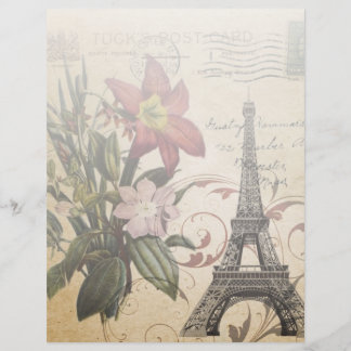 modern vintage scripts lily Paris Eiffel Tower