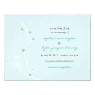 Modern Vintage Simple Elegant Photo Save The Date Card