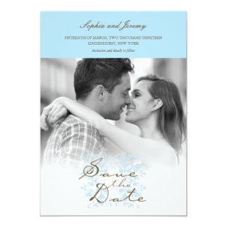 Modern Vintage Simple Elegant Photo Save The Date 5x7 Paper Invitation Card