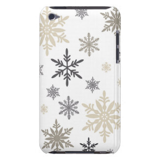 modern vintage snowflakes iPod touch cases