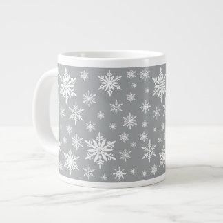 modern vintage snowflakes large coffee mug