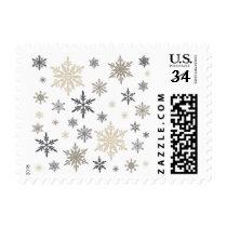 modern vintage snowflakes stamp