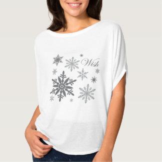modern vintage snowflakes T-Shirt