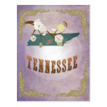 Modern Vintage Tennesse State Map- Sweet Lavender Post Cards