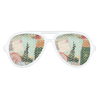 modern vintage travel collage aviator sunglasses