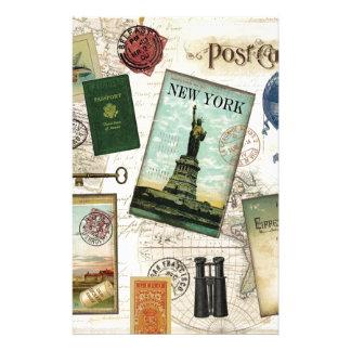 Modern vintage travel stationery