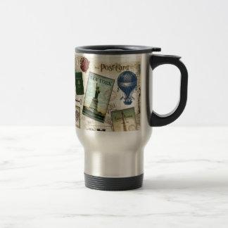 Modern vintage travel travel mug