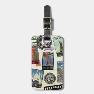 Modern Vintage Travel USA Bag Tag