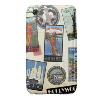 Modern Vintage Travel USA iPhone 3 Case-Mate Cases