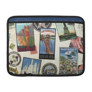 Modern Vintage Travel USA Sleeves For MacBook Air
