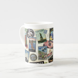 Modern Vintage Travel USA Tea Cup