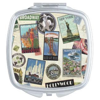 Modern Vintage Travel USA Vanity Mirror