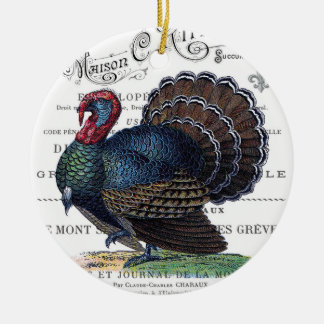 modern vintage Turkey Ceramic Ornament