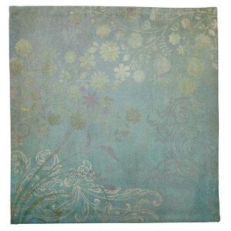Modern Vintage Wallpaper Floral Design Flower Art Napkins