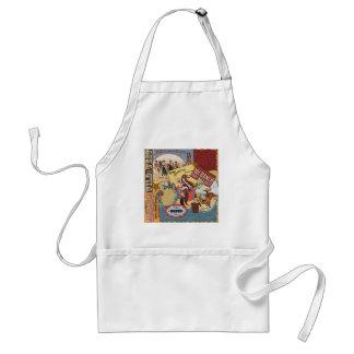 modern vintage western cowgirl apron