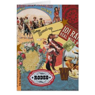 modern vintage western cowgirl card