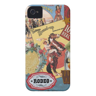 modern vintage western cowgirl Case-Mate iPhone 4 cases