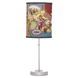 modern vintage western cowgirl table lamp