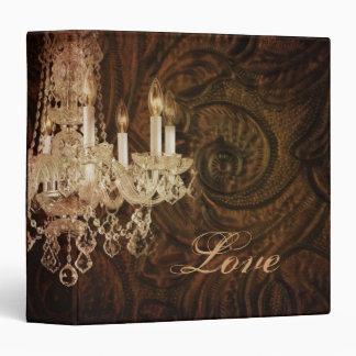 modern vintage western leather chandelier wedding binders