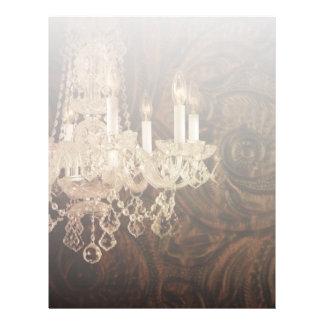 modern vintage western leather chandelier wedding letterhead