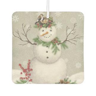 modern vintage winter garden snowman air freshener
