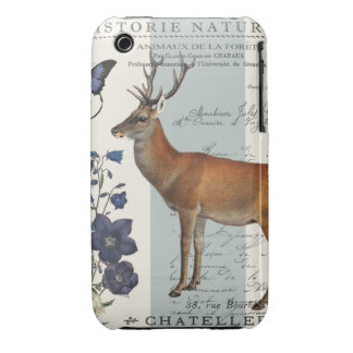 modern vintage woodland deer iPhone 3 cover