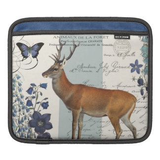 modern vintage woodland deer iPad sleeve