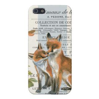 Modern vintage woodland fox iPhone SE/5/5s cover