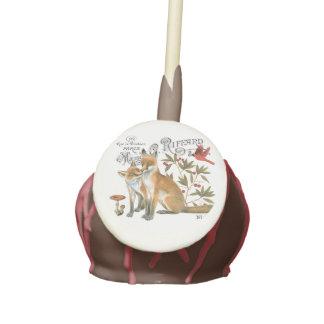 modern vintage woodland fox cake pops