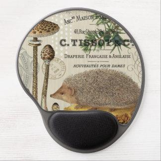 modern vintage woodland hedgehog gel mouse pad