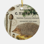 modern vintage woodland hedgehog christmas tree ornament