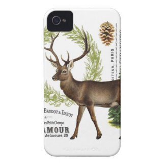 modern vintage woodland winter deer iPhone 4 cover