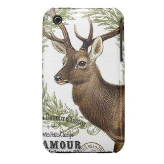 modern vintage woodland winter deer Case-Mate iPhone 3 cases