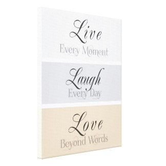 Modern Virtues Stretched Canvas Prints