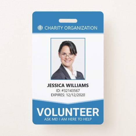 Modern Volunteer ID Badge