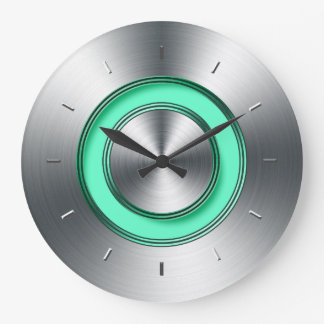 Modern Wall Clock For Kitchen Faux Metal