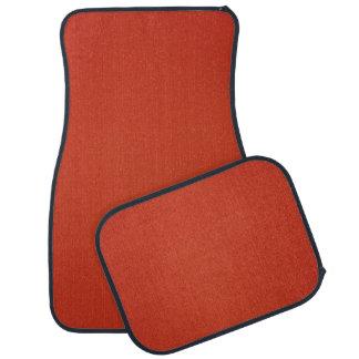 Modern Warm Red Grainy Texture Car Floor Mat