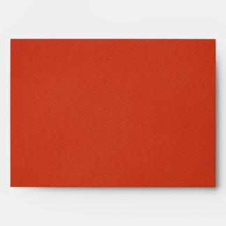 Modern Warm Red Grainy Texture Envelope