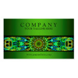 modern Watching You mandala green Business Card Templates