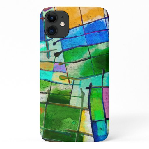 Modern Watercolor Artistic Grid  iPhone  Case
