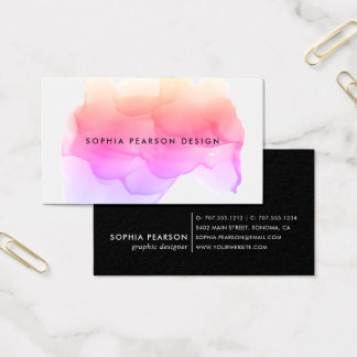 Modern Watercolor Blot Business Card