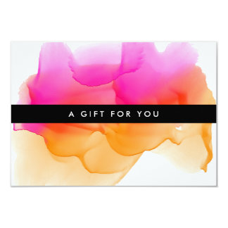 Modern Watercolor Blot | Gift Certificate Card